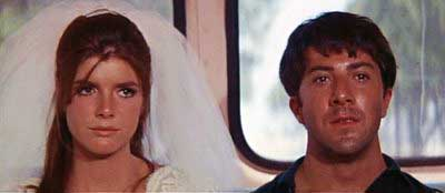 "Dustin Hoffman and Katharine Ross in ""The Graduate"""