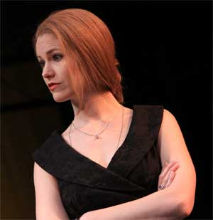 "Kate MacCluggage as Portia in ""The Merchant of Venice"""