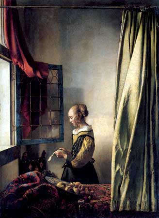 Johannes Vermeer, Girl Reading a Letter By An Open Window