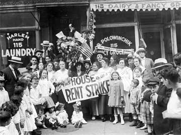 Rent Strike, New York, 1919
