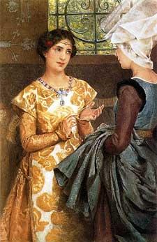 """Laura T.Alta-Tadema, """"Katherine Of France"""" (1888)"""