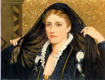 "Edmund Blair Leighton, ""Olivia"" (from ""Twelfth Night""), 1888"