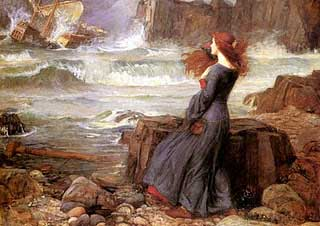 "John Wiliam Waterhouse, ""The Tempest"" (1916)"