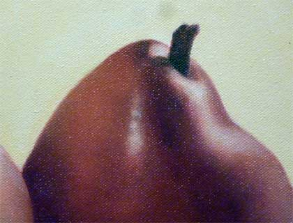 Two Red Pears (detail)