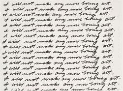 John Baldessari, I Will Not Make Any More Boring Art (1971). Courtesy of John Baldessari.