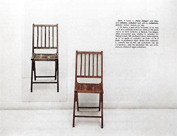 Joseph Kosuth, One and Three Chairs (1965)