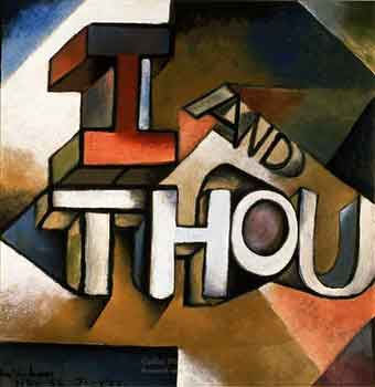 """I and Thou"" (1955) by Colin McCahon"