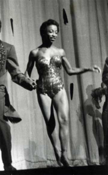 Norma Miller on stage at The Savoy