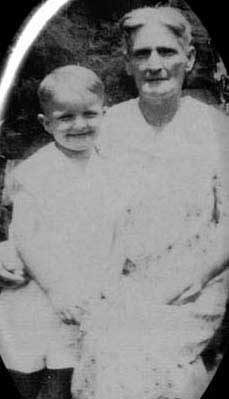 The real Truman Capote as a young boy and Miss Sook