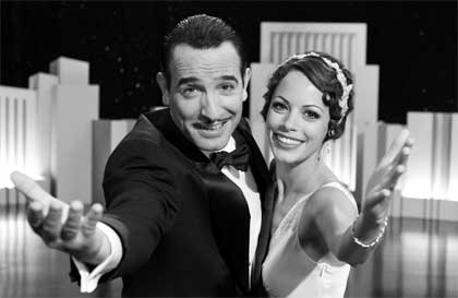 Jean Dujardin as George Valentin and Bérénice Bejo as Peppy Miller in 'The Artist'
