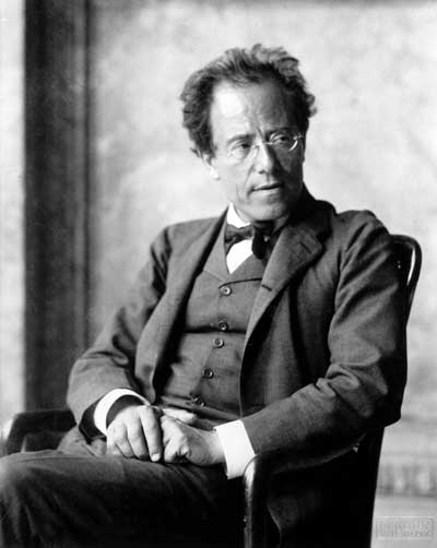 Gustav Mahler in 1907  Photographed by Moritz Nahr