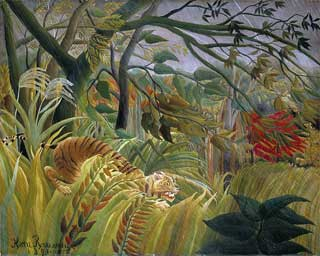 Henri Rousseau, 'Tiger in a Tropical Storm' (1891)