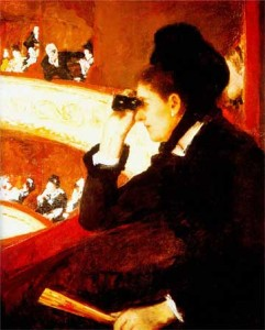 Mary Cassatt, 'Woman In Black At The Opera'(1879)