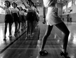 Jack Delano, 'Tap Dancing Class at Iowa State College, 1942'