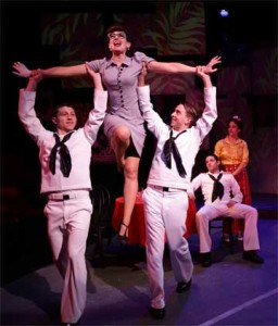 Zachary Eisenstat as Ozzie, Aimee Doherty as Claire, Phil Tayler as Chip, John Ambrosino as Gabey, Michele A. DeLuca as Hildyin 'On The Town'
