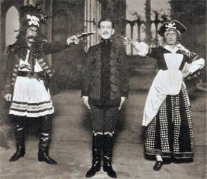 Frederick Hobbs, James Hay and Bertha Lewis in 'The Pirates of Penzance,' 1919