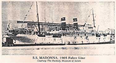 Steamship SS Madonna 1905
