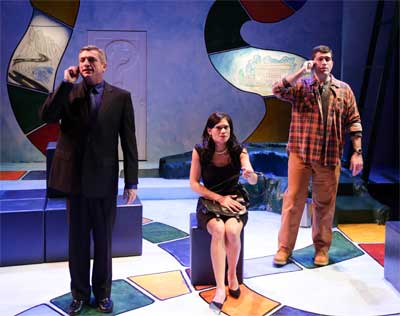 Will McGarrahan as Walter Flood, Celeste Oliva as Becky Foster, Mike Dorval as Joe Foster in 'Becky''s New Car'