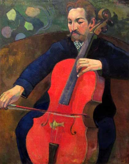 Paul Gauguin, 'The Cellist' (1894), Baltimore Museum of Art, Baltimore, MD