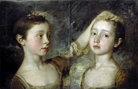 Thomas Gainsborough, 'The Painter's Two Daughters' (1758) Victoria and Albert Museum, London, England