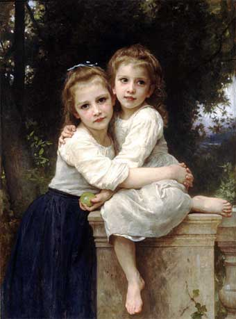 William Adolphe Bourguereau, 'Two Sisters' (1901)