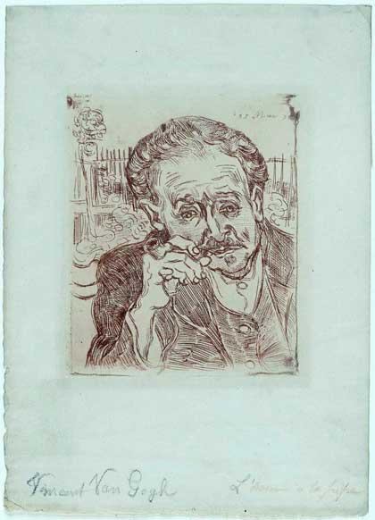 Vincent van Gogh, 'Portrait of Doctor Gachet' (1890)