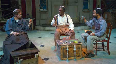 Jesse Hinson as Caleb, Johnny Lee Davenport as Simon, Keith Mascoll as John in 'The Whipping Man'
