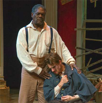 Johnny Lee Davenport as Simon, Jesse Hinson as Caleb in 'The Whipping Man'