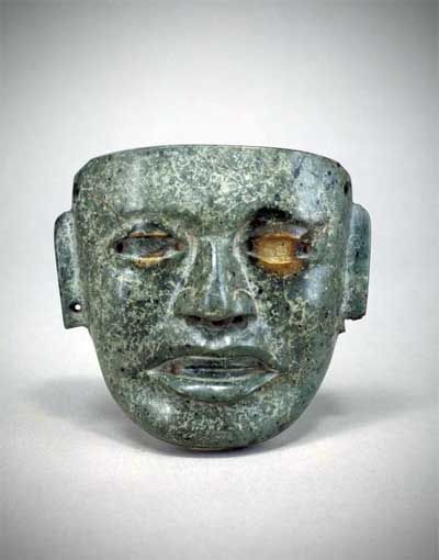 Mask, Mexico, Teotihuacán, A.D. 1-700, 4 13/16 x 5 3/16 in., From the Pre-Columbian Art Collection