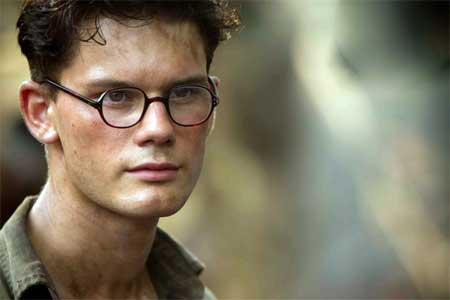 Jeremy Irvine as the young Eric in 'The Railway Man'
