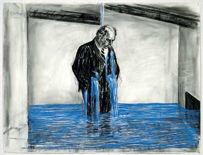 William Kentridge, 'Drawing from Stereoscop' (1998–99), (Felix Teitlebaum character), Museum of Modern Art, NY