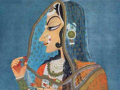 'Bani Thani', Kishangarh, Jaipur, Rajasthan, 18th century