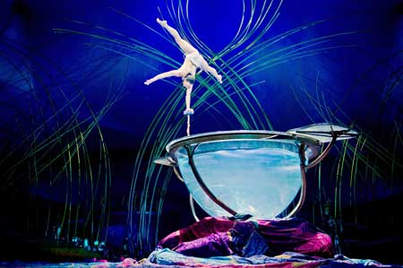 Miranda at the Waterbowl in 'Amaluna'