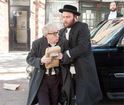 Woody Allen as Murray, Liev Schreiber as Dovi in 'Fading Gigolo'