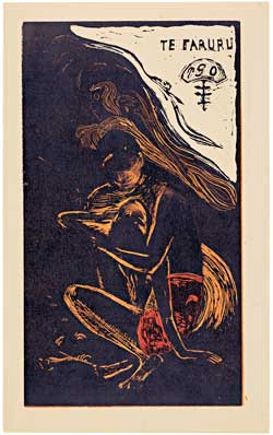 Paul Gauguin, 'Te Faruru (Here We Make Love)', woodcut, from 'Noa Noa' (1893-1894)