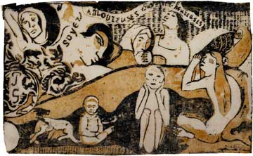 Paul Gauguin, 'Be In Love And You Will Be Happy' (1898), Woodcut, from the 'Vollard Suite'