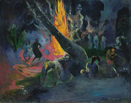 Upa Upa (The Fire Dance)(1891), Oil on canvas, The Israel Museum, Jerusalem