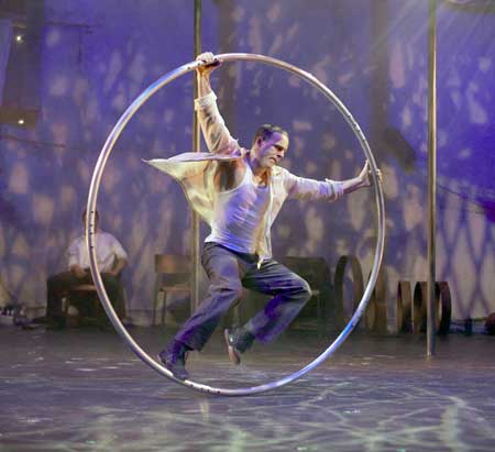 Human Wheel in 'Traces'