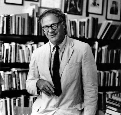 Robert Lowell (1965) at Grolier Poetry Book Shop, Cambridge, MA