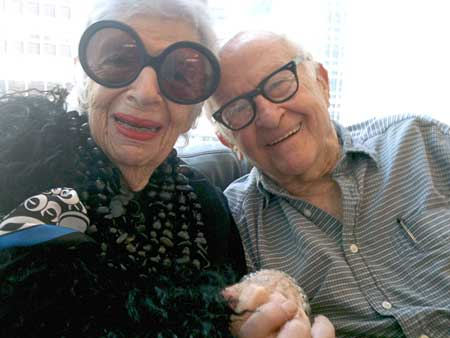 Iris Apfel and Albert Maysles