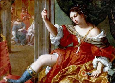 Elisabetta Sirani, 'Portia Wounding Her Thigh' (1664), Collezioni d'Arte e di Storia della Fondazione Carisbo, Bologna