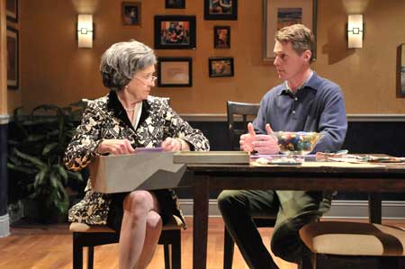 Nancy E. Carroll as Katharine Gerard, Michael Kaye as Cal Porter in 'Mothers and Sons'