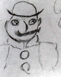 Leopold Bloom, drawn by James Joyce