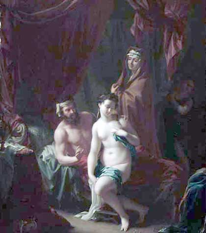 Philip Vandyk, 'Sarah Presents Hagar As A Second Spouse To Abraham' (1708)