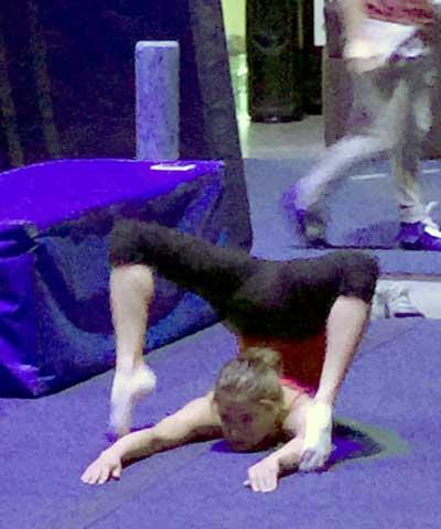 'Varekai' acrobat in rehearsal