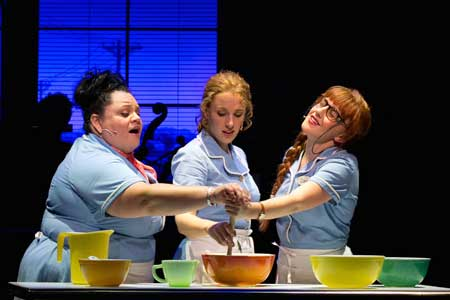 Keala Settle as Becky, Jessie Mueller as Jenna, Jeanna de Waal as Dawn in 'Waitress'