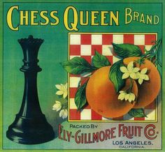Chess Queen Fruit Label
