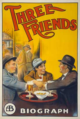 Three Friends Old Movie Poster