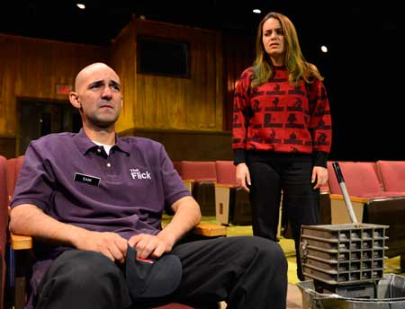 Nael Nacer as Sam, Melissa Jesser as Rose in 'The Flick'