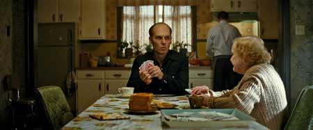 Johnny Depp as Whitey Bulger, Mary Klug as Ma Bulger in 'Black Mass'